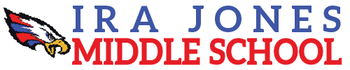 Ira Jones Middle School logo centered